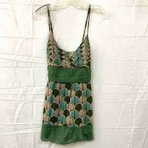 Charlotte Russe V Neck Sleeveless Mini Dress